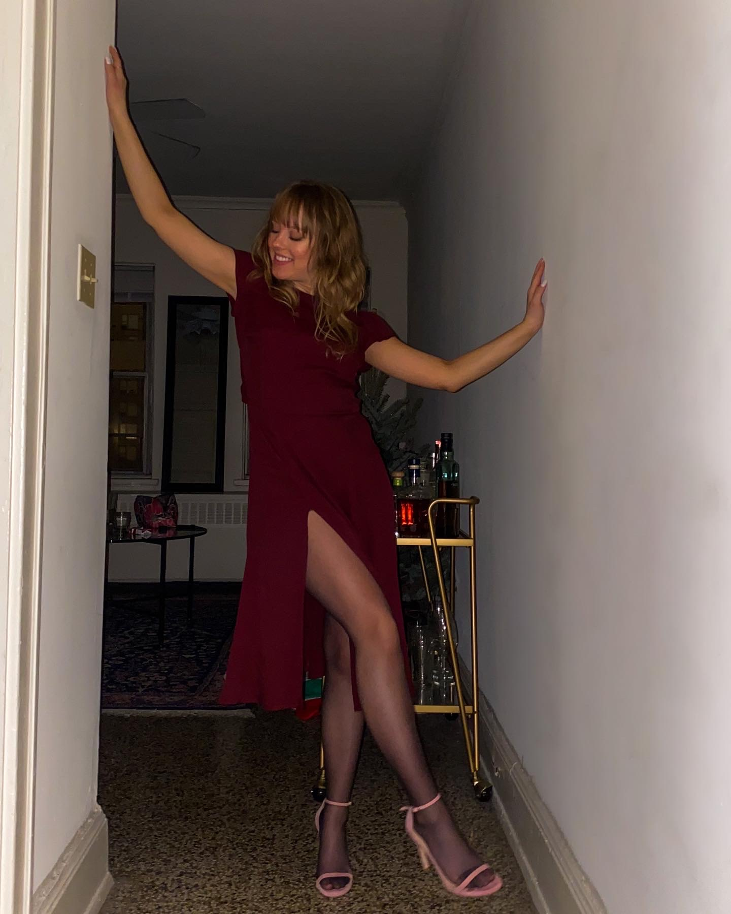 Holiday Party in the Reformation Gavin Dress